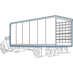 dry freight work truck