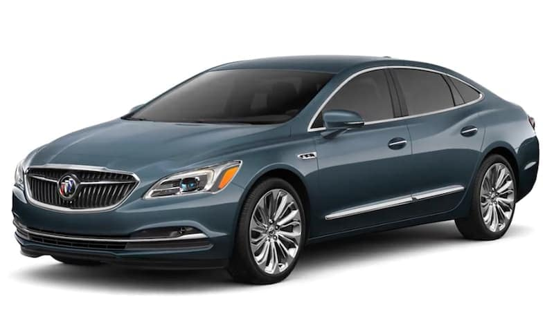 Blue 2019 Buick LaCrosse on white