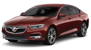 A red 2019 Buick Regal Sportback on white