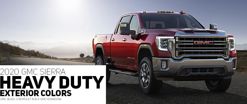 Carl Black Chevy Kennesaw >> 2020 GMC Sierra HD Color Options - Carl Black Kenensaw