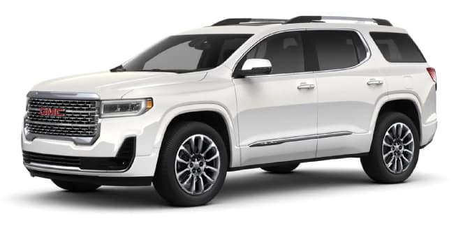 2020 GMC Acadia White Frost Tricoat Color