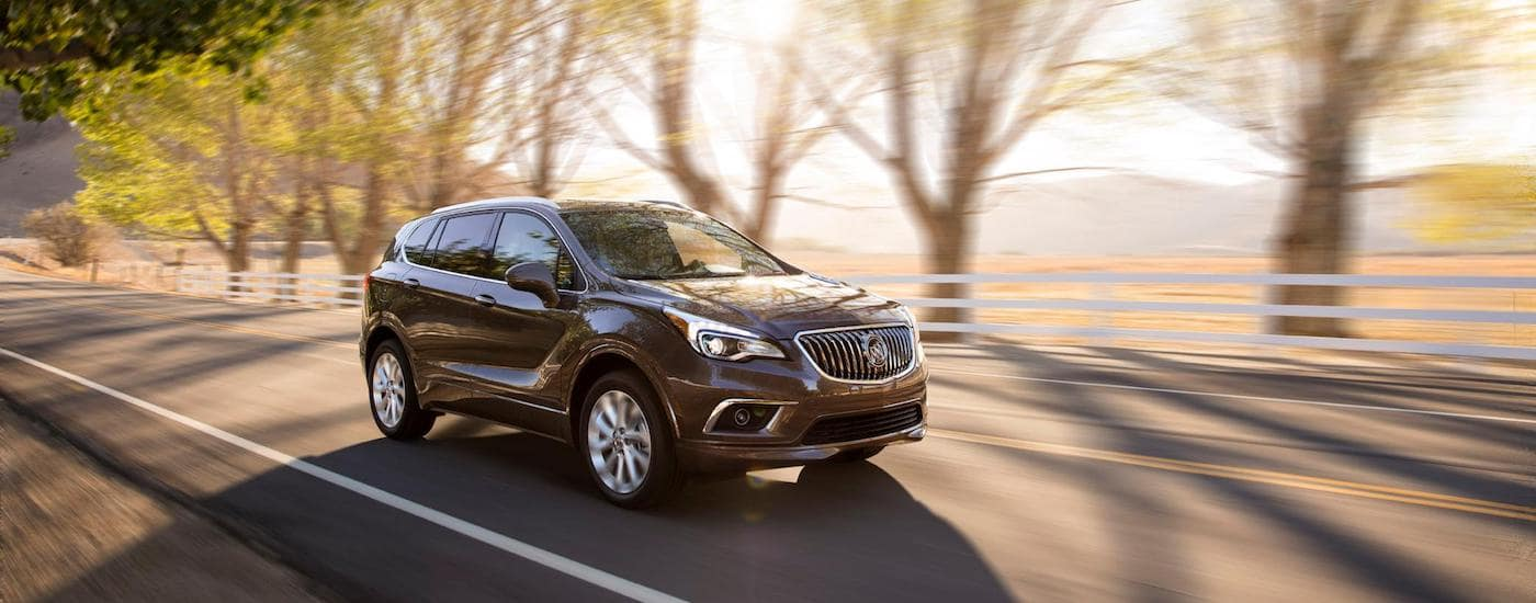A Buick SUV on a test drive from a local Buick dealership near you