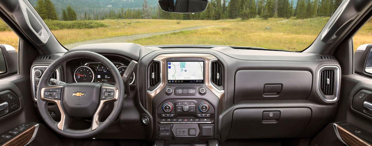 A look out from the victors seat of a Chevy High Country, 2019 Chevy Silverado vs 2019 Toyota Tundra