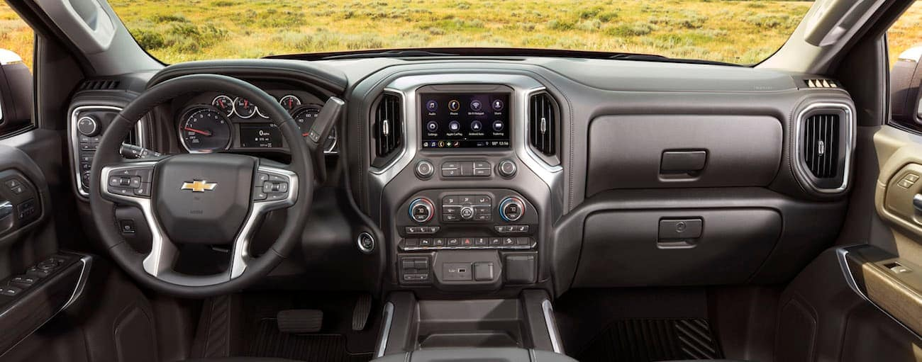 A look at the interior if a 2019 Chevy Silverado