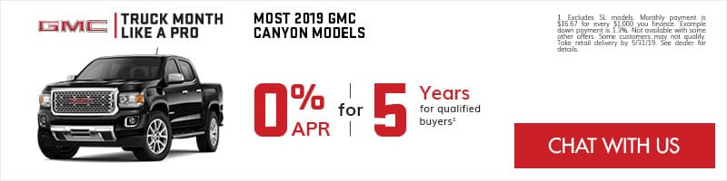 GMC Canyon 0% APR for 5 Years Specials