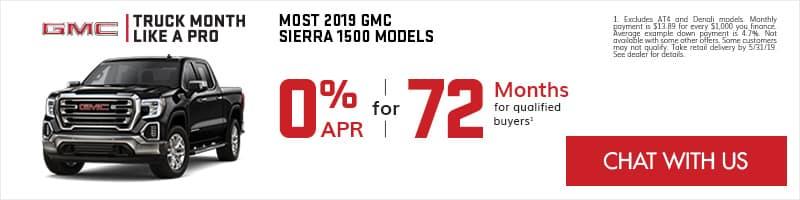 GMC Sierra 1500 0% APR for 72 Months Specials