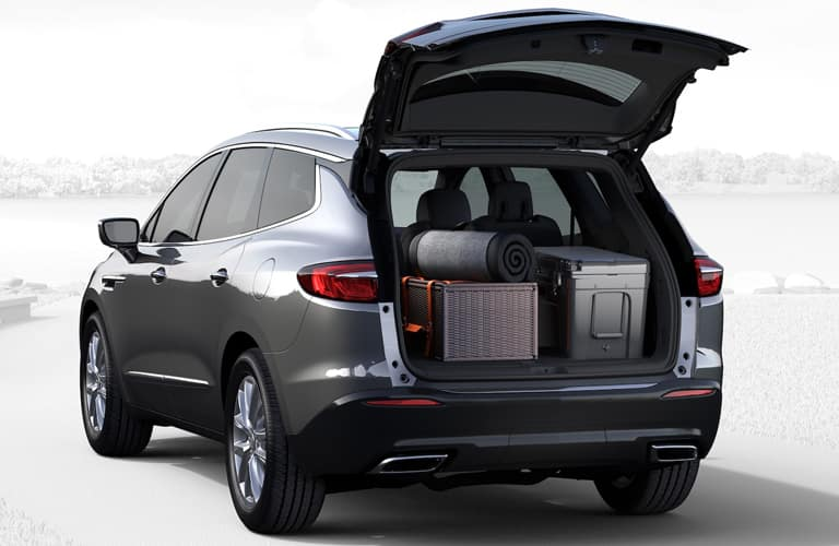 tailgate open with cargo inside 2019 Buick Enclave
