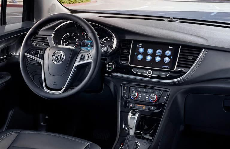 steering wheel and dashboard in 2019 Buick Encore