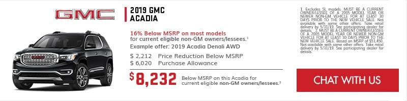 2019 GMC Acadia Specials