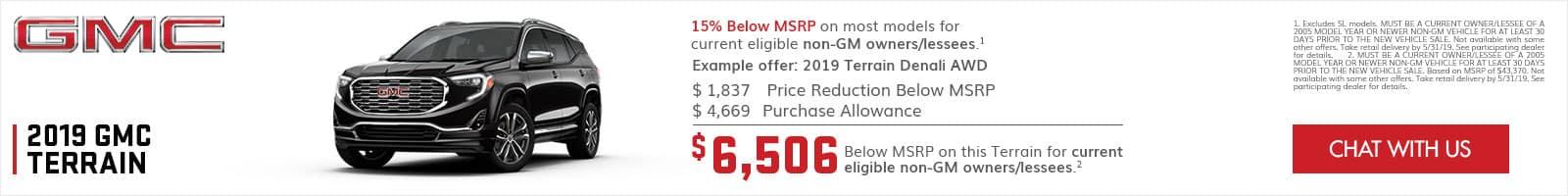 2019 GMC Terrain Specials