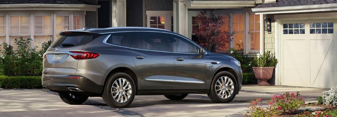 gray 2019 Buick Enclave parked outside family home