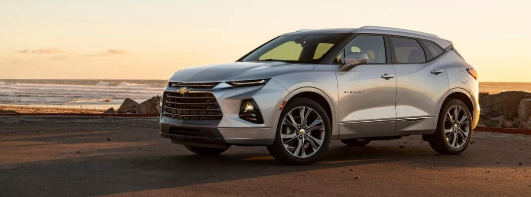 2019 Chevy Blazer parked at sunset
