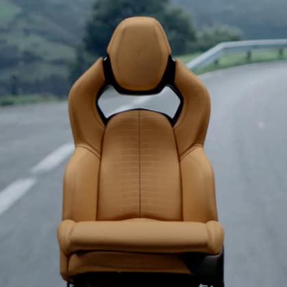 Chevrolet 2020 Corvette Seat GT2 Tan