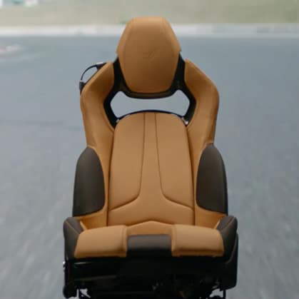 Chevrolet 2020 Corvette Seat GT3 Tan and Black