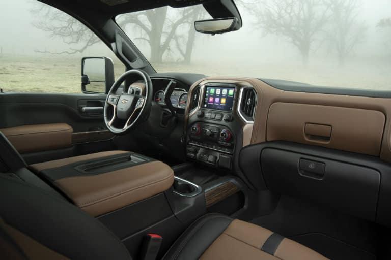 2020 Chevy Silverado HD's cabin