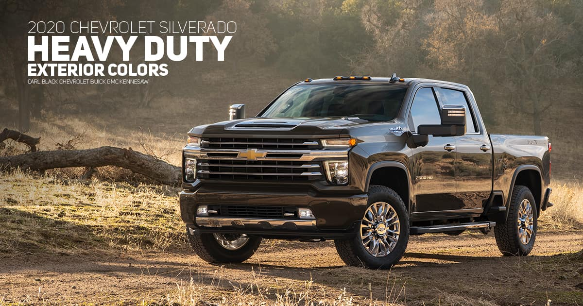 2020 Chevrolet Silverado HD Color Options - Carl Black ...
