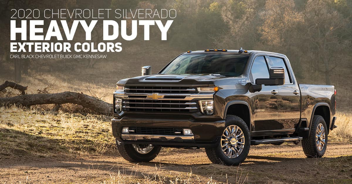 2020 Chevrolet Silverado Hd Color Options Carl Black Kennesaw