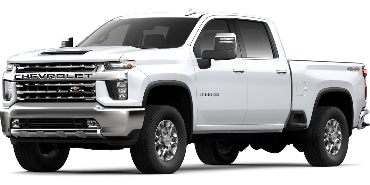 2020 Chevrolet Silverado HD Summit White Color