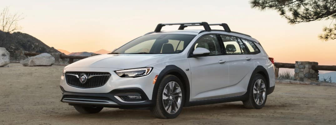 2019 Buick Regal TourX parked at sunset