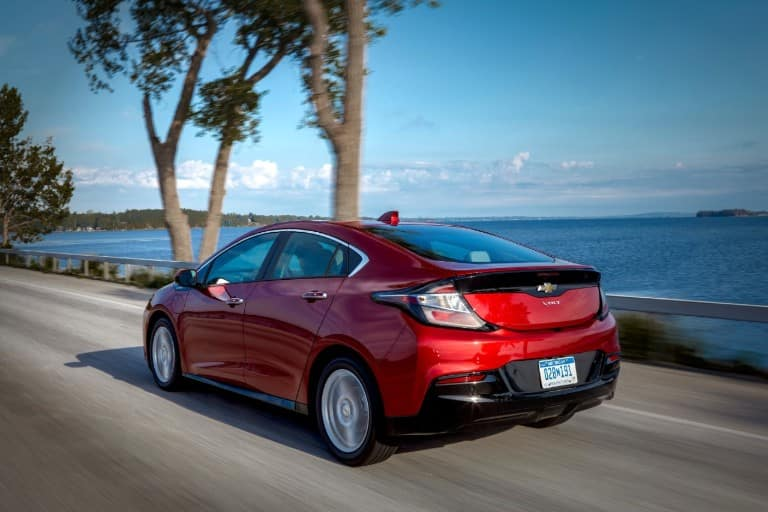 2019 Chevy Volt driving by the water