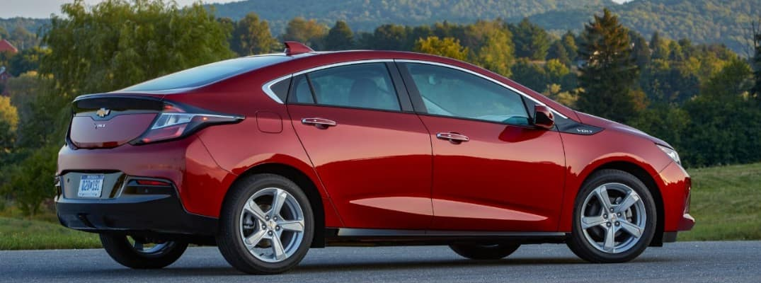 2019 Chevy Volt parked with trees in the background