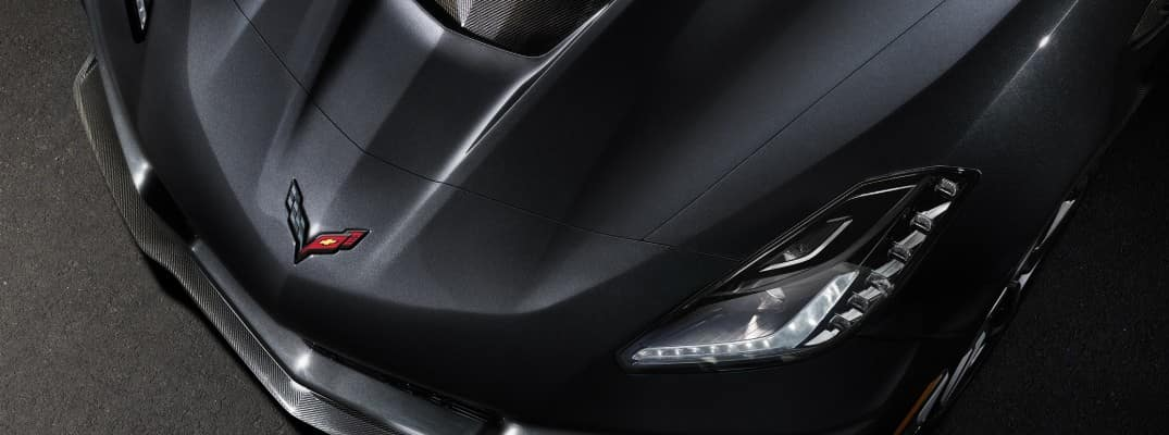A close-up of the 2019 Chevy Corvette ZR1