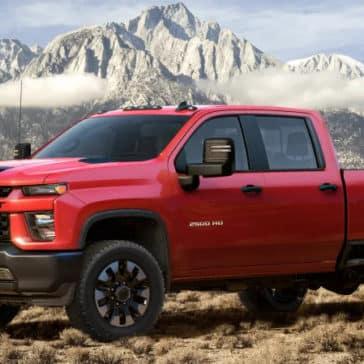 2020 Chevrolet Silverado HD Sitting in the desert