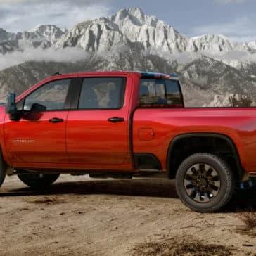2020 Chevrolet Silverado HD Red Rear View