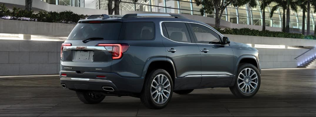 2020 GMC Acadia parked downtown