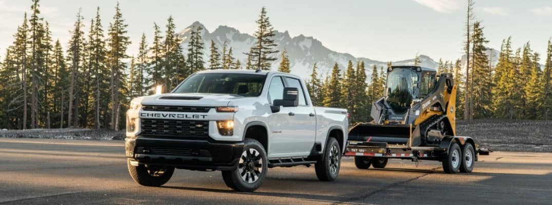 2020 Chevy Silverado 2500HD towing a trailer