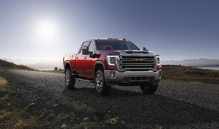 2020 GMC Sierra HD parked on an open road