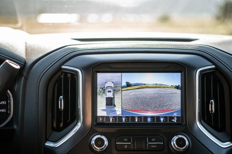Camera view in the 2020 GMC Sierra HD