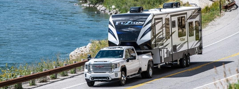 2020 GMC Sierra HD Denali towing a RV