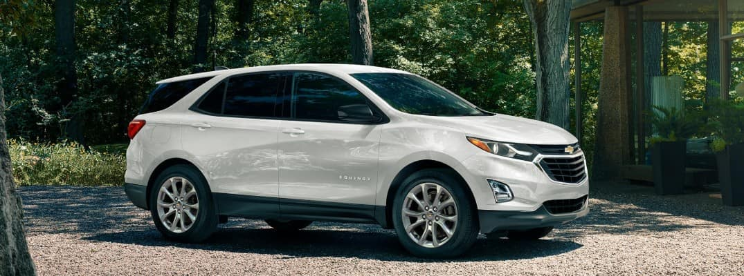 2020 Chevy Equinox parked by the woods
