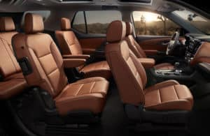 Seats in the 2020 Chevy Traverse