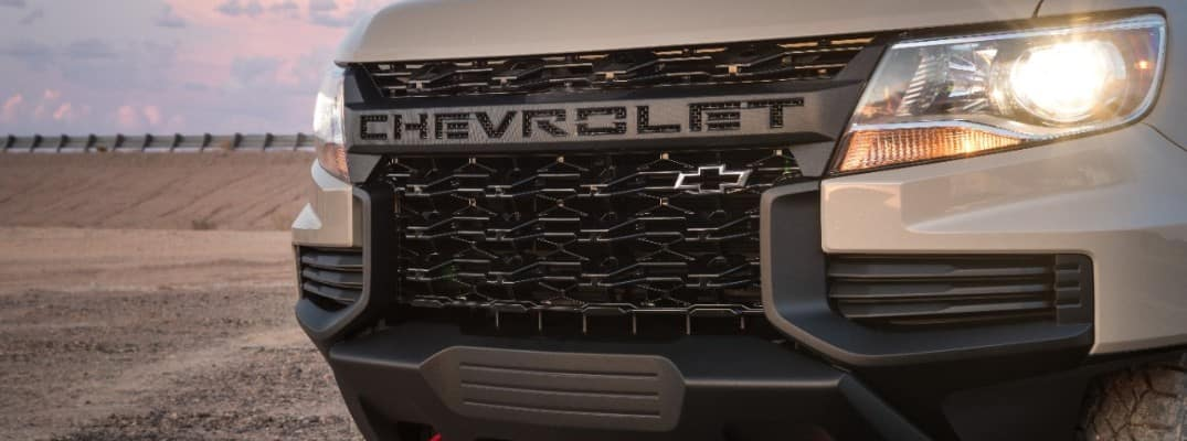 Grille of the 2021 Chevy Colorado