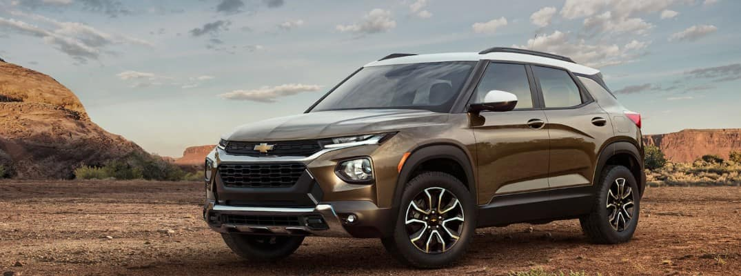 2021 Chevy Trailblazer parked in the desert