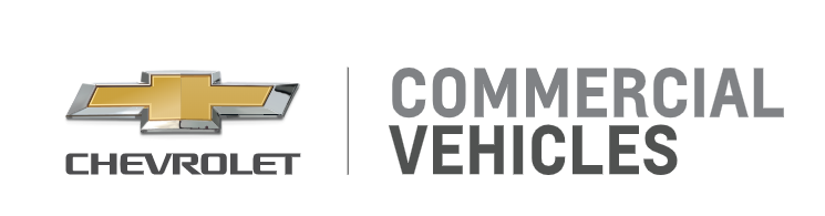 "Chevrolet logo with the words ""Commercial Vehicles"""