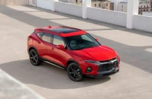 2019 Chevy Blazer on a parking garage