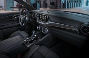 Cabin of the 2020 Chevy Blazer