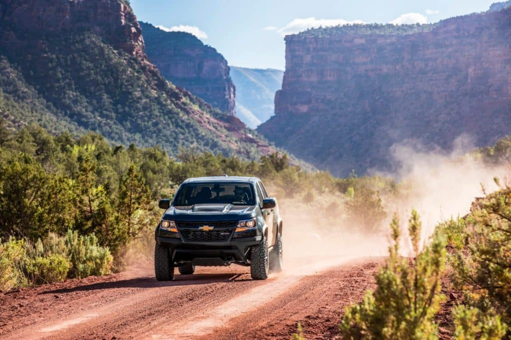 2020 Chevrolet Colorado ZR2 driving down the road