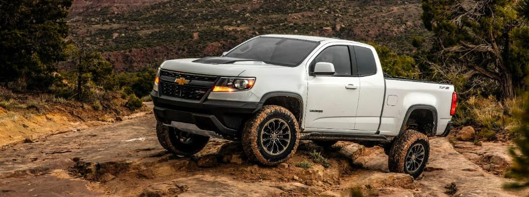 2020 Chevy Colorado ZR2 driving up a hill