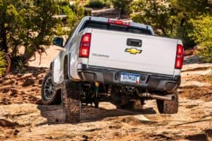 2020 Chevrolet Colorado ZR2 driving down a hill
