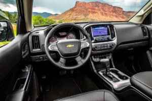 Cabin of the 2020 Chevrolet Colorado ZR2
