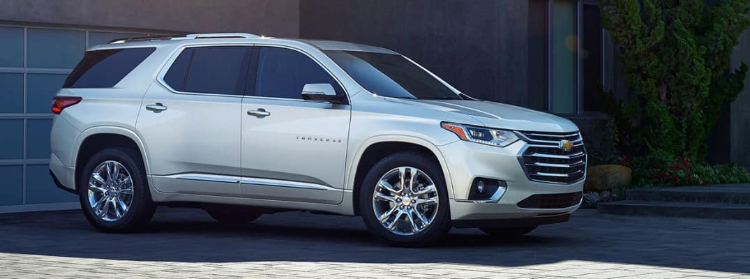 2020 Chevrolet Traverse in the driveway of a home