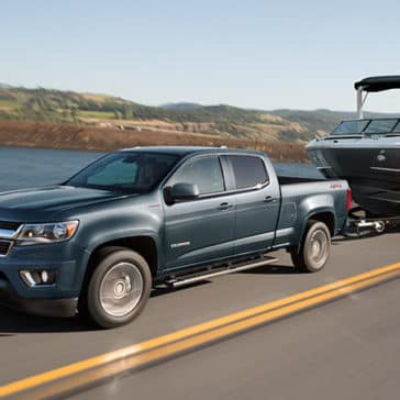 2020 Chevy Colorado Towing a boat