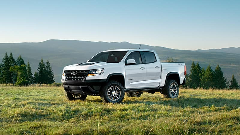 2020 Chevy Colorado ZR2 in a field