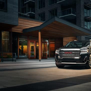 2020 GMC Acadia in the city