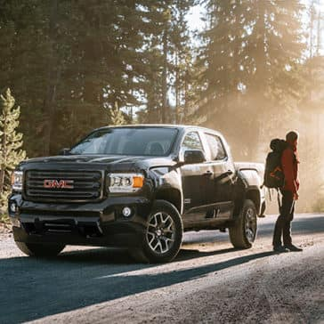 2020 GMC Canyon All Terrain in the mountains