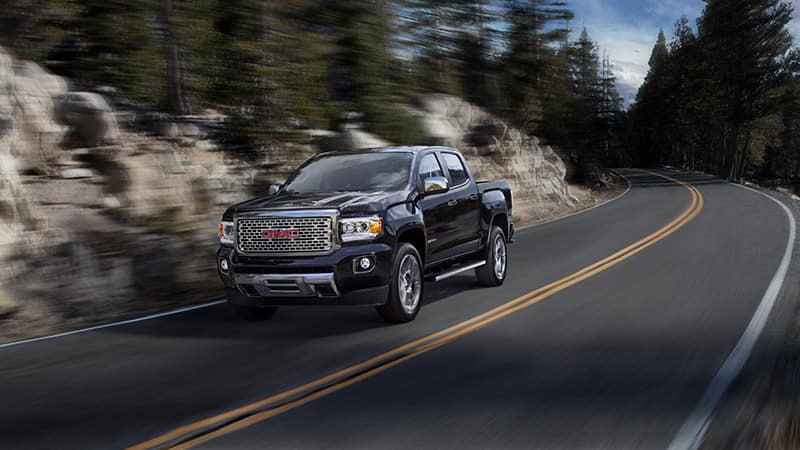 2020 GMC Canyon Denali Driving Down the Road